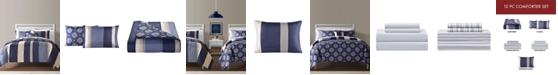 Sunham Austin Reversible 12-Pc. Queen Comforter Sets