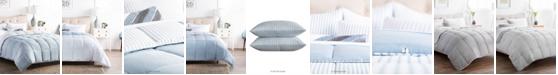Brookside Striped Reversible Chambray Comforter Set, Full