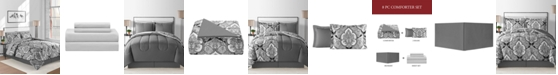 Fairfield Square Collection Gotham Reversible 6-Pc. Twin Comforter Set