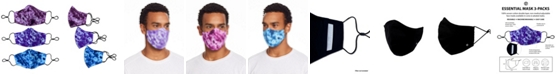 Society of Threads Unisex Curved Face Mask Tie Dye 3-Pack