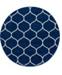 Bridgeport Home Plexity Plx2 Navy Blue 4' x 4' Round Area Rug