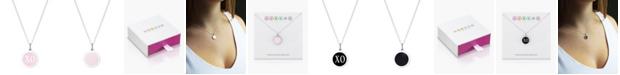 "Auburn Jewelry Mini XO Pendant Necklace in Sterling Silver and Enamel, 16"" + 2"" Extender"