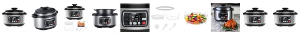 GoWISE USA 8.5 Quart Ovate Series Pressure Cooker with Accessories