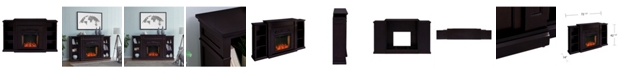 Southern Enterprises Cardewell Alexa-Enabled Electric Fireplace with Bookcases