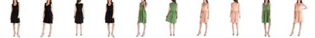 24seven Comfort Apparel Slim Fit Sleeveless A-Line Flare Dress