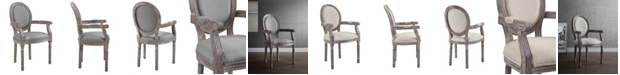 Modway Emanate Vintage French Upholstered Fabric Dining Armchair