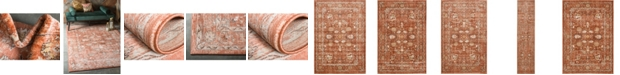 Bridgeport Home Masha Mas3 Terracotta Area Rug Collection