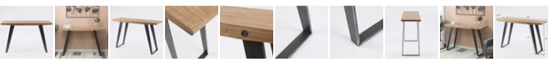 Luxen Home Metal And Wood Modern Console And Entry Table