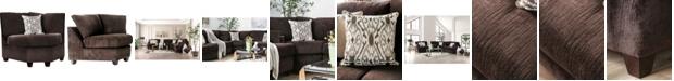 Furniture of America Herriot Upholstered Corner Chair