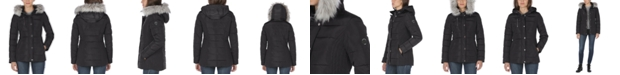 Nautica Faux-Fur Trim Hooded Puffer Coat