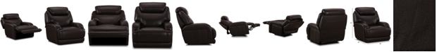 Furniture Daventry Leather Power Glider Recliner with Power Headrest & USB Power Outlet
