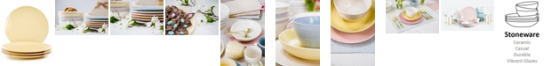 Martha Stewart Collection CLOSEOUT! Color Striping Dinner Plates, Set of 4, Created for Macy's
