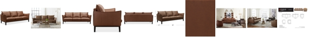 """Furniture Chanute 88"""" Leather Sofa, Created for Macy's"""