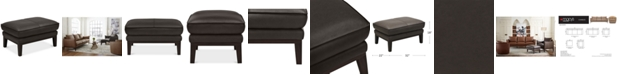 "Furniture Chanute 32"" Leather Ottoman, Created for Macy's"