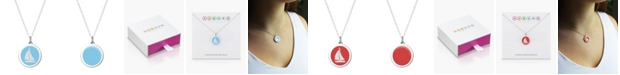 """Auburn Jewelry Sailboat Pendant Necklace in Sterling Silver and Enamel, 16"""" + 2"""" Extender"""