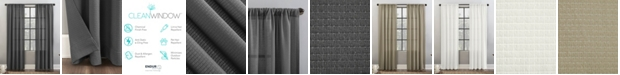 "Clean Window Waffle Texture 52"" x 84"" Anti-Dust Curtain Panel"