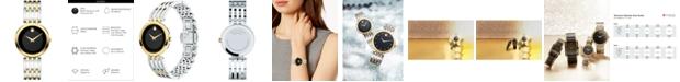 Movado Women's Swiss Esperanza Two-Tone PVD Stainless Steel Bracelet Watch 28mm 0607053