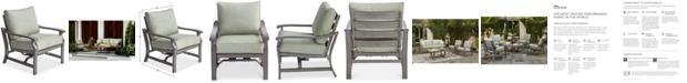 Furniture Tara Aluminum Outdoor Rocker Chair, with Sunbrella® Cushions, Created for Macy's
