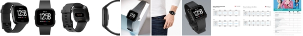Fitbit Versa™ Black Band Touchscreen Smart Watch 39mm