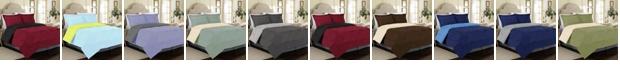 Cathay Home Inc. All Season Peach Skin Reversible King Bedding Comforter Set
