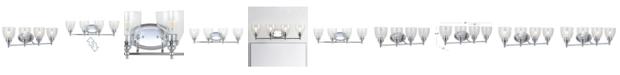 "JONATHAN Y Marais 30"" 4-Light LED Wall Sconce"