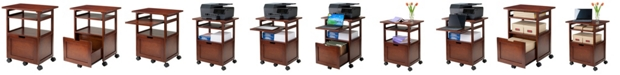 Winsome Piper Work Cart/Printer Stand with Key Board