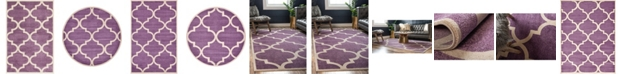Bridgeport Home Arbor Arb3 Purple Area Rug Collection