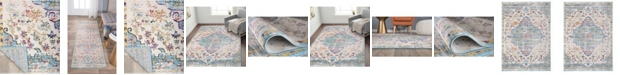 Main Street Rugs Home Lyon Lyn837 Blue Area Rug Collection