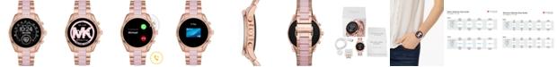Michael Kors Access Gen 5 Bradshaw Rose Gold-Tone Stainless Steel & Blush Acetate Bracelet Touchscreen Smart Watch 44mm