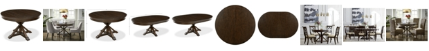 Furniture Baker Street Round Expandable Dining Table, Created for Macy's