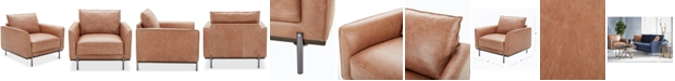 """Furniture Havant 37"""" Leather Accent Chair"""