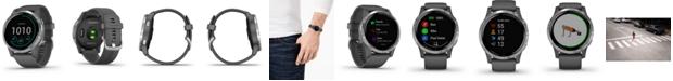 Garmin Unisex vivoactive 4 Shadow Gray Silicone Strap Touchscreen Smart Watch 45mm