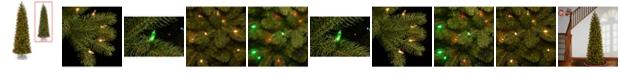"National Tree Company National Tree 6 .5"" Feel Real Downswept Douglas Fir Pencil Slim Tree with 300 Dual Color LED LIghts"