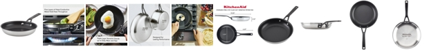 """KitchenAid Polished Stainless Steel Nonstick 8"""" Fry Pan"""