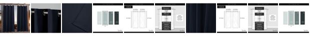 """Exclusive Home Nicole Miller Canvas Indoor/Outdoor Grommet Top 54"""" X 84"""" Curtain Panel Pair"""