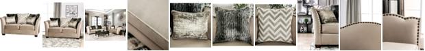 Furniture of America Keinisha Upholstered Love Seat