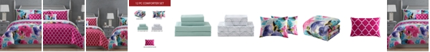 Hallmart Collectibles Ada 12-Pc. Reversible Comforter Sets