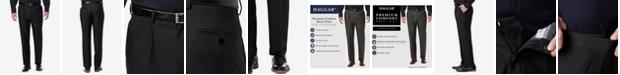 Haggar Men's Premium Comfort Stretch Classic-Fit Solid Pleated Dress Pants