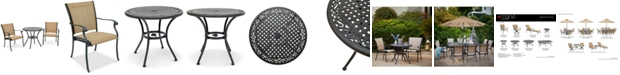 """Furniture Beachmont II Outdoor 3-Pc. Dining Set (32"""" Round Bistro Table and 2 Dining Chairs), Created for Macy's"""
