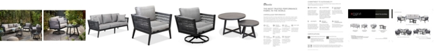 Furniture Braxtyn Outdoor Seating Collection, with Sunbrella® Cushions, Created for Macy's