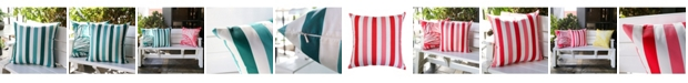 Homey Cozy Avery Classic Stripe Outdoor Pillow