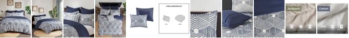 INK+IVY Ellipse 3-Piece King/Cal King Cotton Jacquard Comforter Set