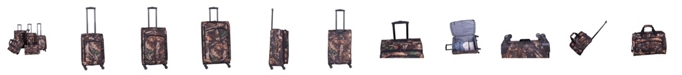 American Flyer Camo Green 5 Piece Spinner Luggage Set