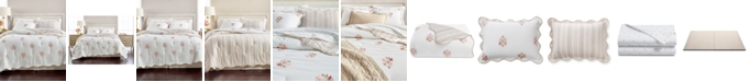 Martha Stewart Collection LAST ACT! Embroidered Floret Reversible Cotton 8-Pc. King Comforter Set, Created for Macy's