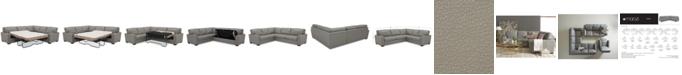 Furniture Ennia 2-Pc. Leather Full Sleeper Sectional Sofa, Created for Macy's