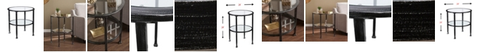 Southern Enterprises Brookford Metal And Glass Round End Table