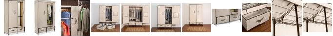 "Honey Can Do Portable Wardrobe Storage Closet, 43"" Wide"