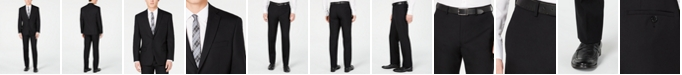 Michael Kors Men's Classic Fit Black Solid Suit
