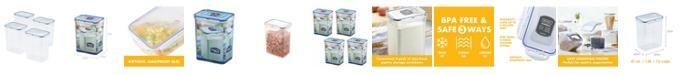 Lock n Lock Easy Essentials 7.6-Cup Rectangular Food Storage Container, Set of 4