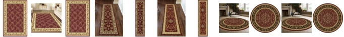 KM Home CLOSEOUT! Navelli Red Area Rug Collection